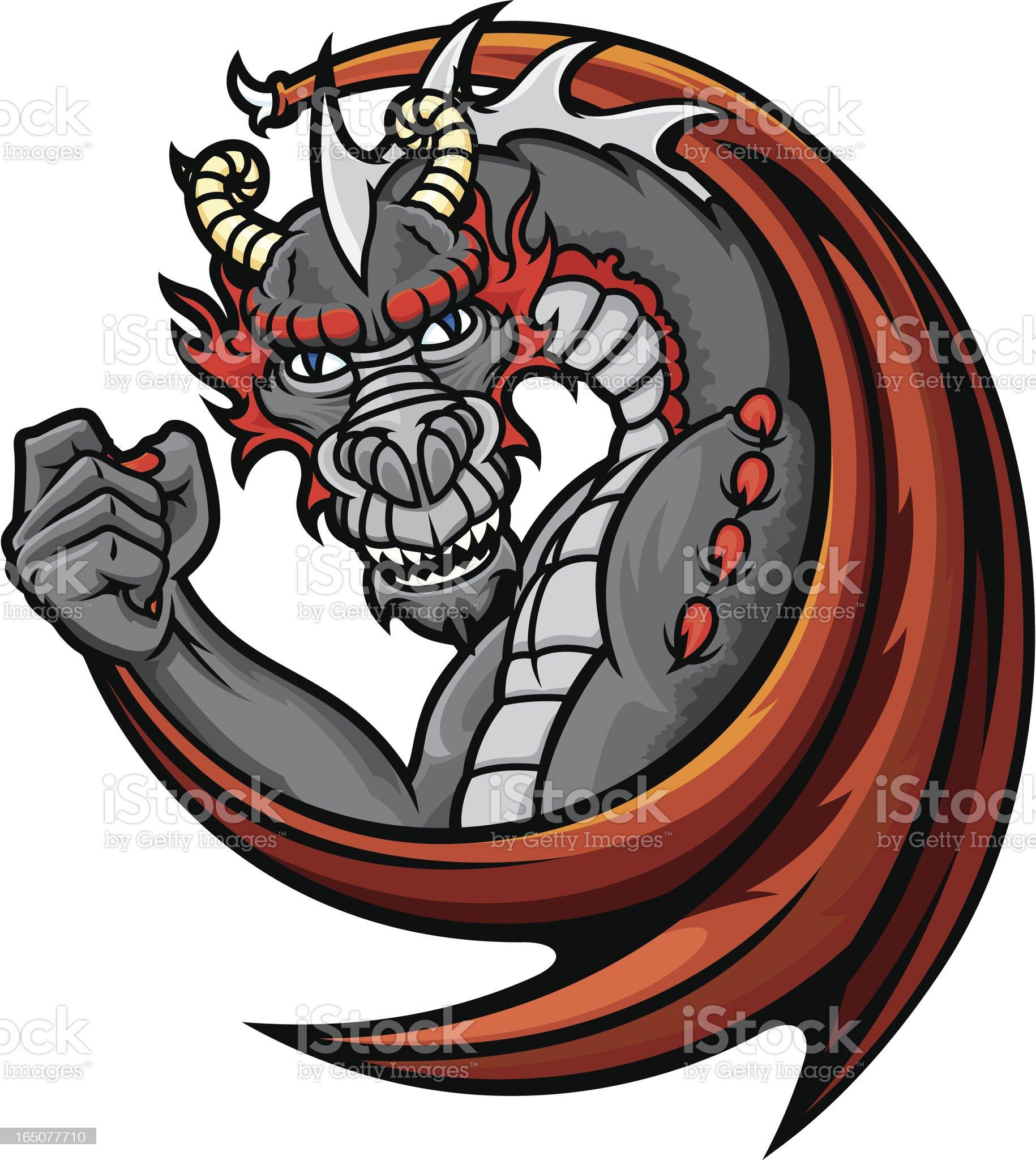 Dragon Champion royalty-free stock vector art