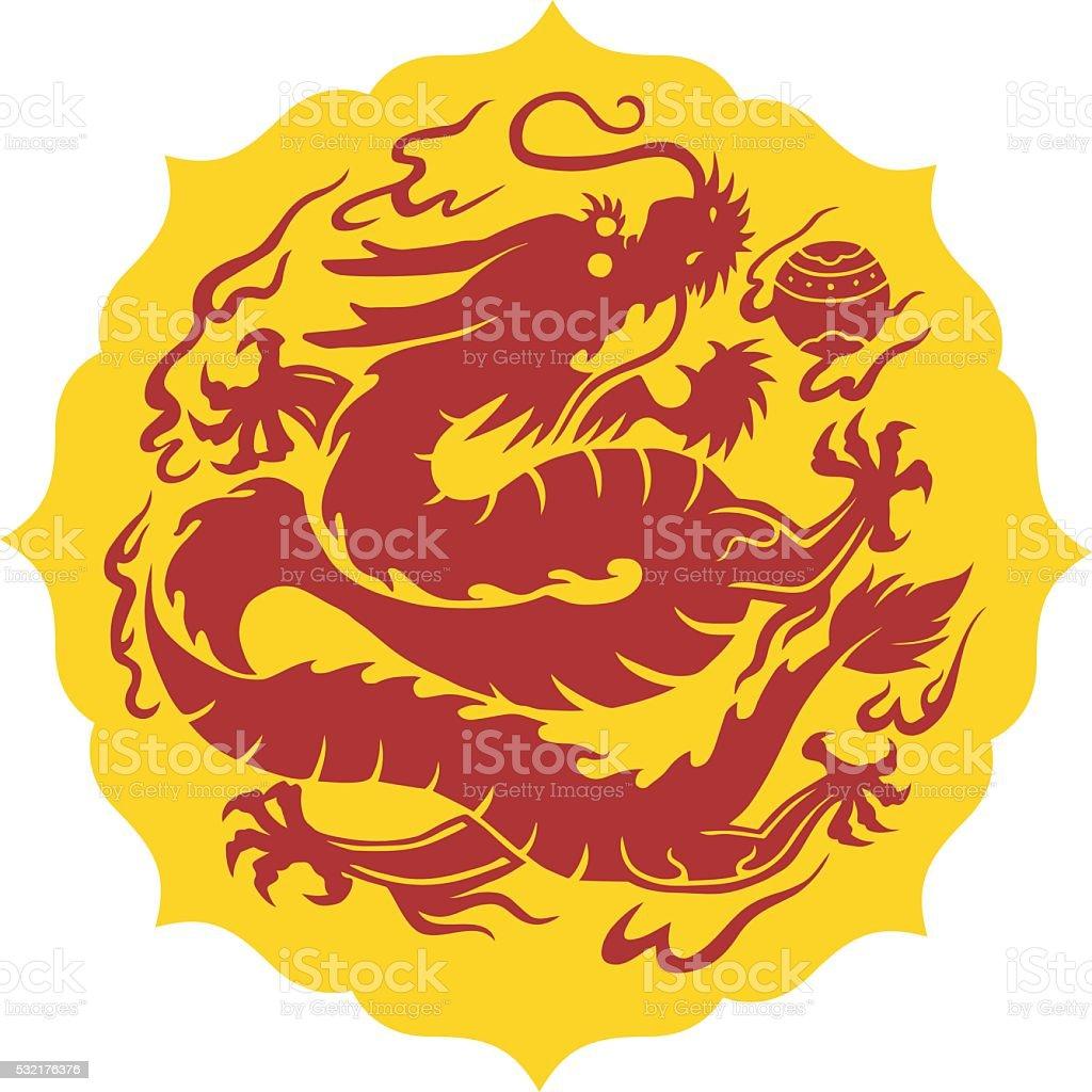 Dragon, chinese dragon vector art illustration