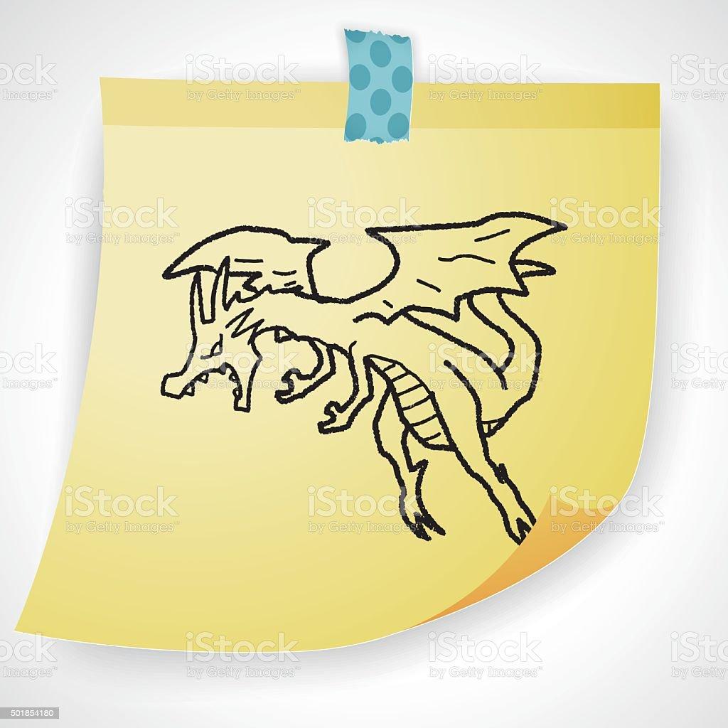 dragon doodle vector art illustration