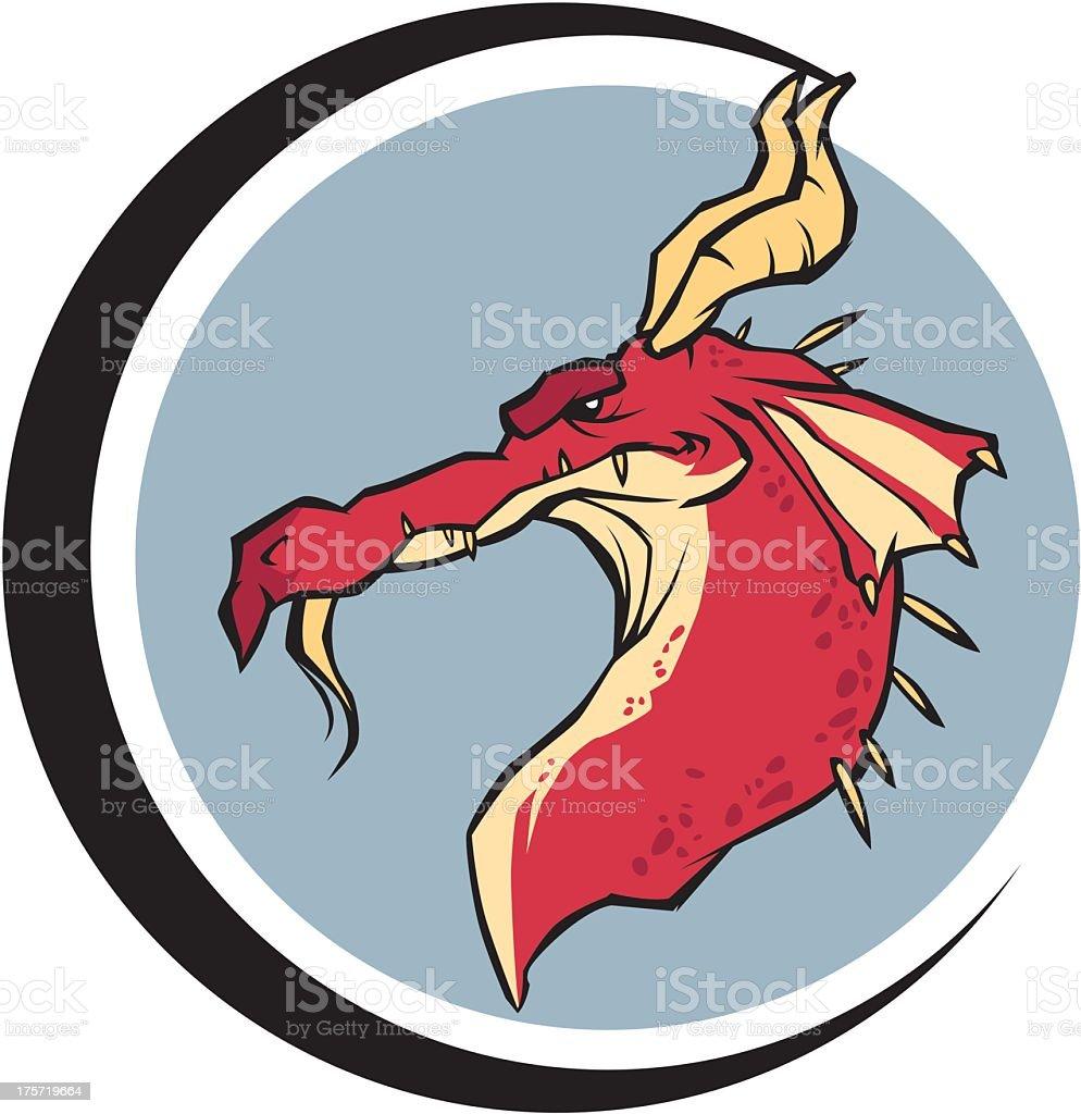 Dragon Emblem royalty-free stock vector art