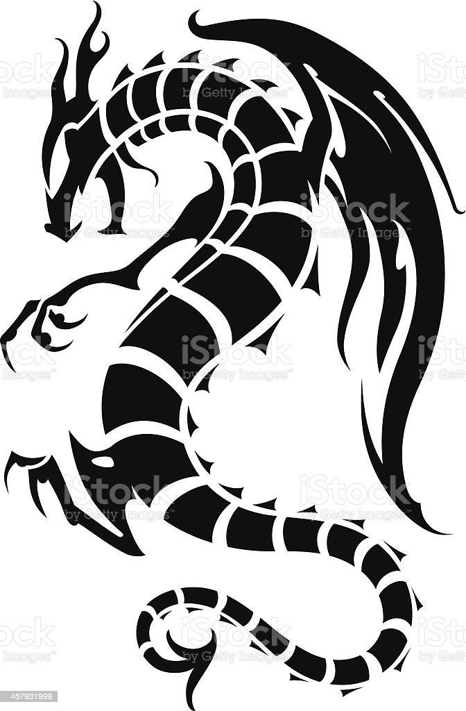 Dragon Fury vector art illustration