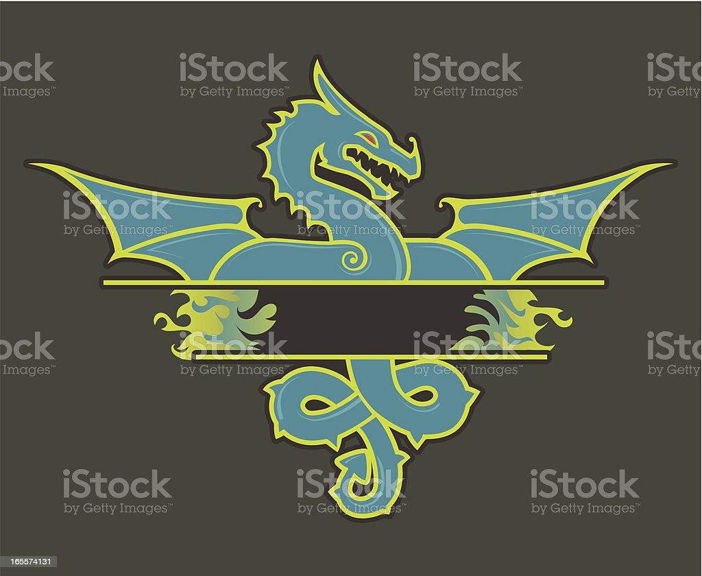 Dragon green royalty-free stock vector art