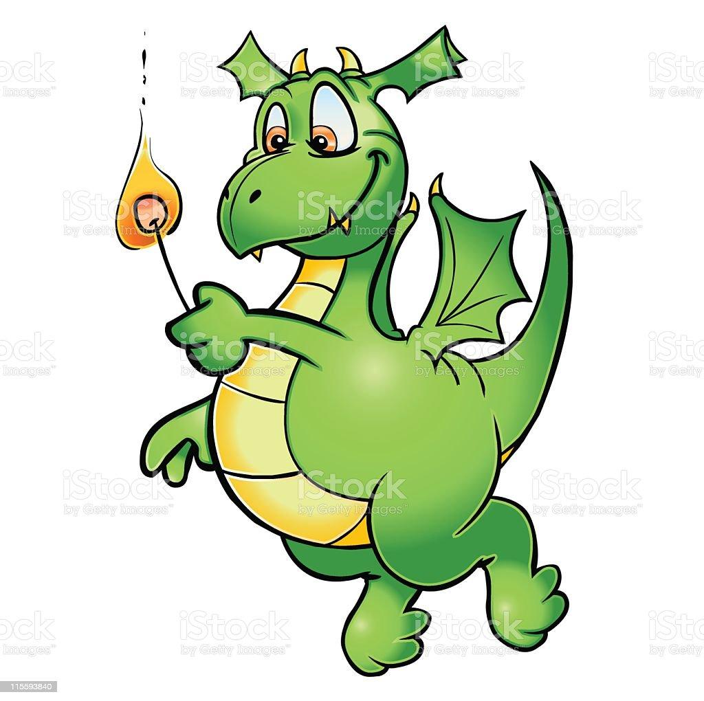 Dragon Marshmallow royalty-free stock vector art