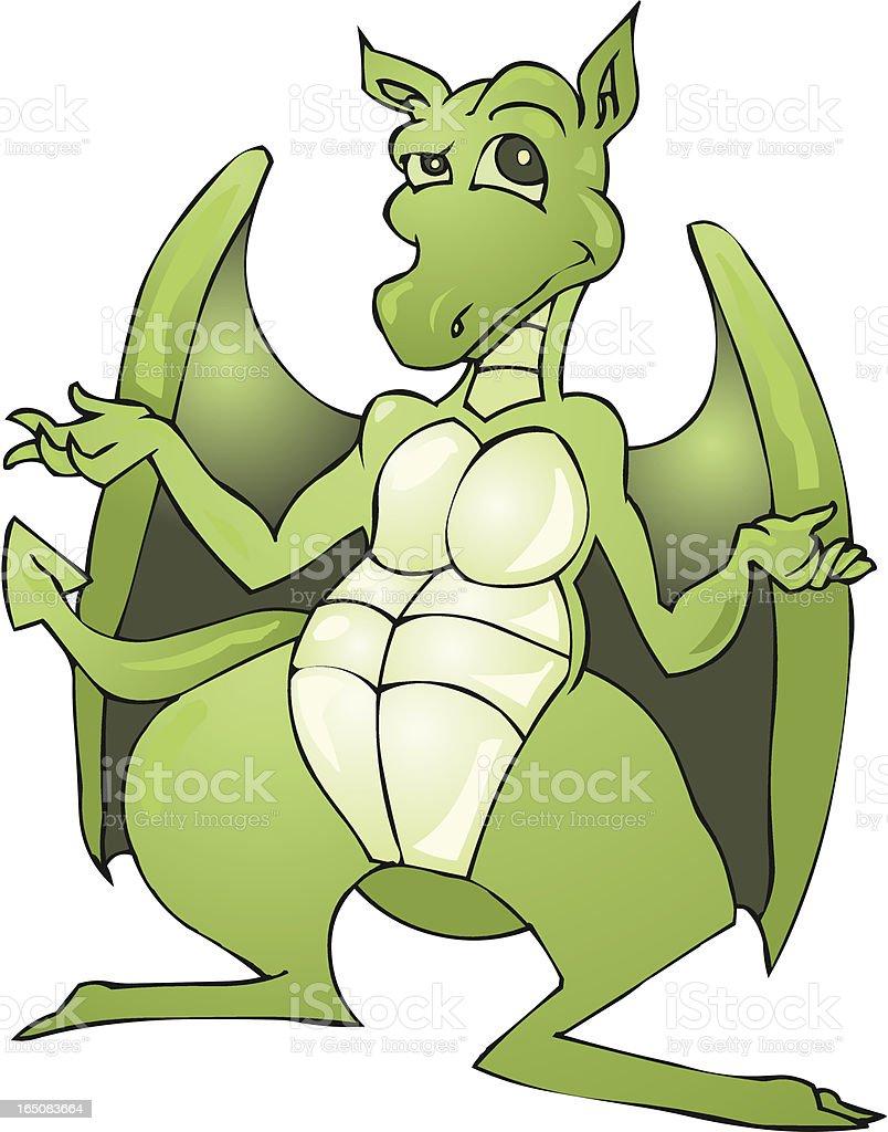 Dragon Shrug royalty-free stock vector art
