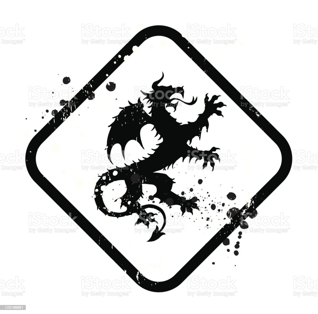 dragon sign royalty-free stock vector art