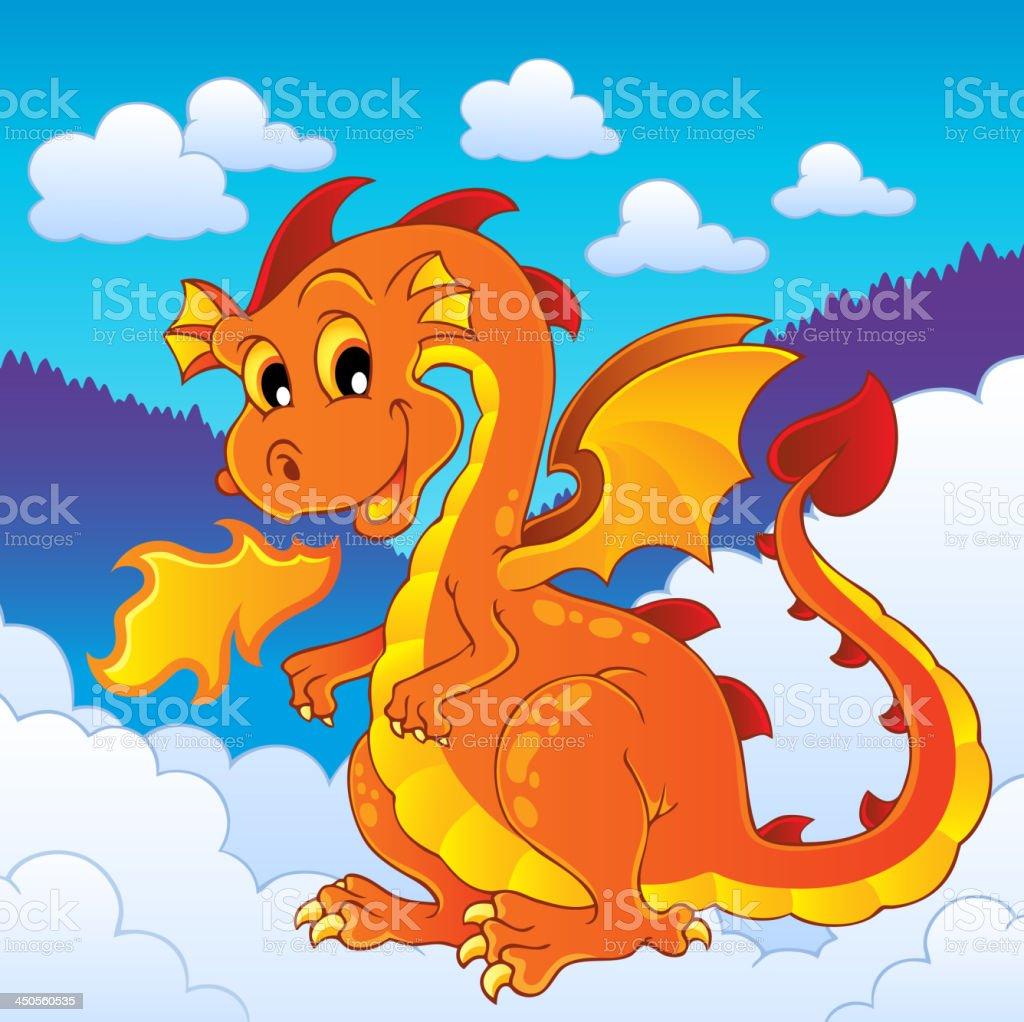 Dragon theme image 8 royalty-free stock vector art