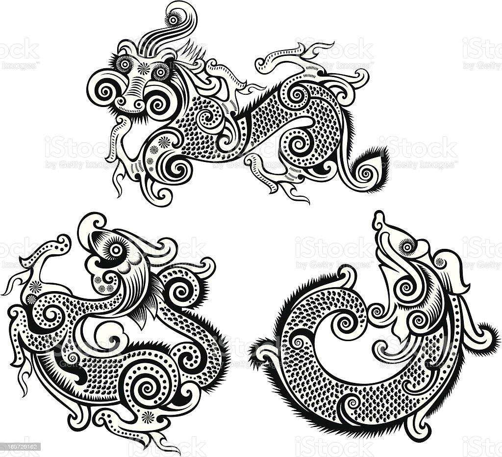 dragon totem royalty-free stock vector art