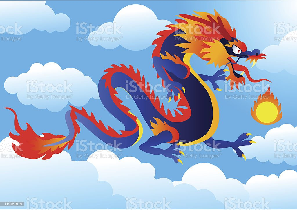 Dragon royalty-free stock vector art