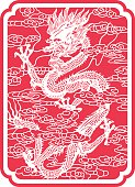 Dragon(Chinese traditional paper-cut art)