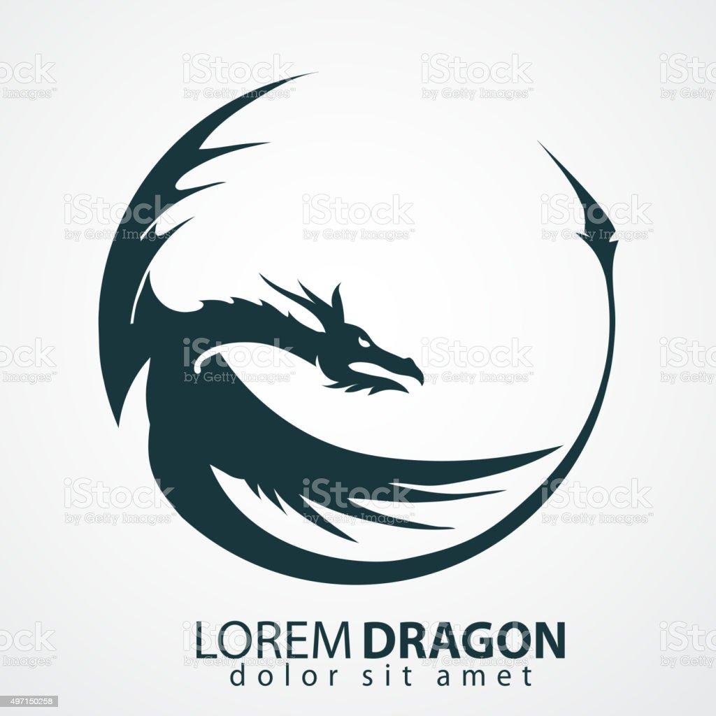 dragon vector silhouette vector art illustration