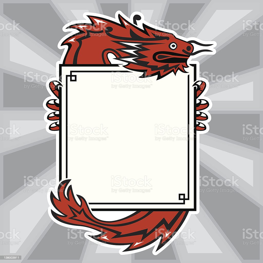 Dragon with at message royalty-free stock vector art