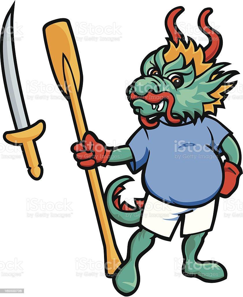 Dragonboat Mascot royalty-free stock vector art