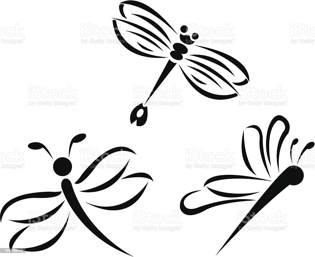Dragonflies royalty-free stock vector art