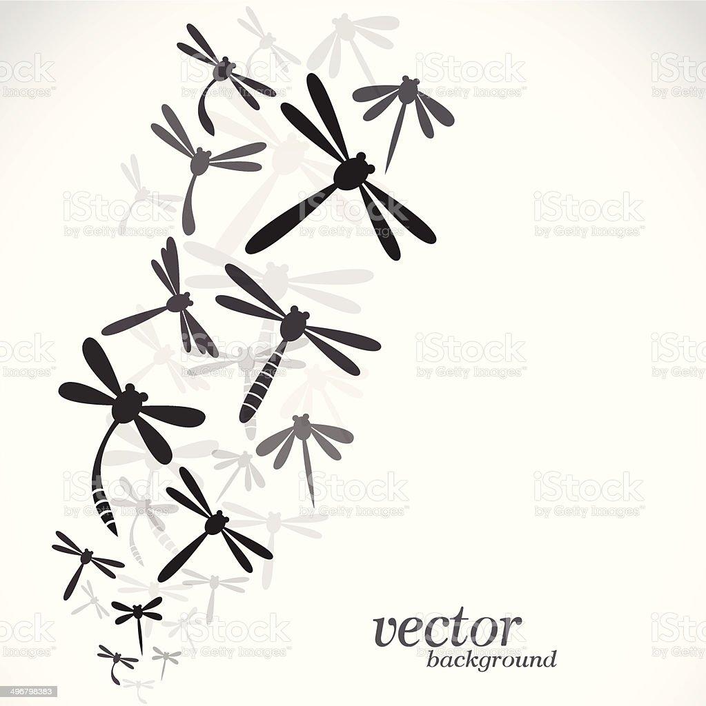 Dragonfly design on white background vector art illustration
