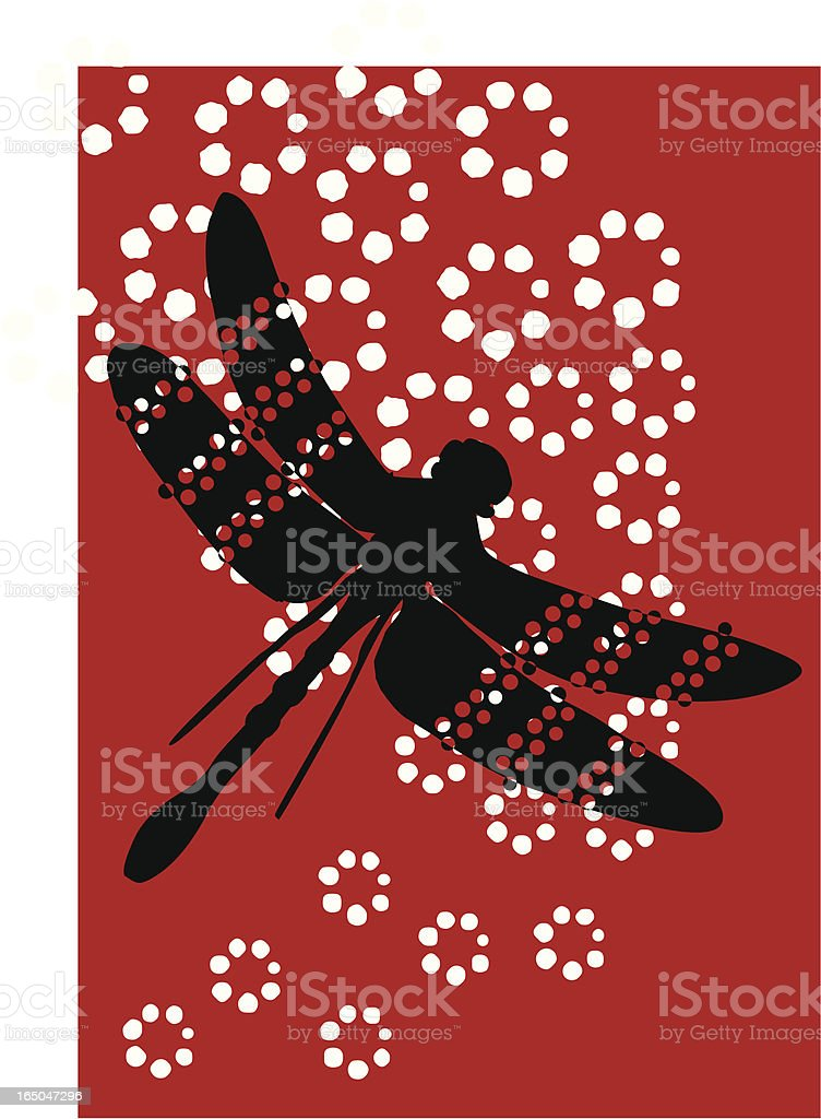 Dragonfly Polka royalty-free stock vector art