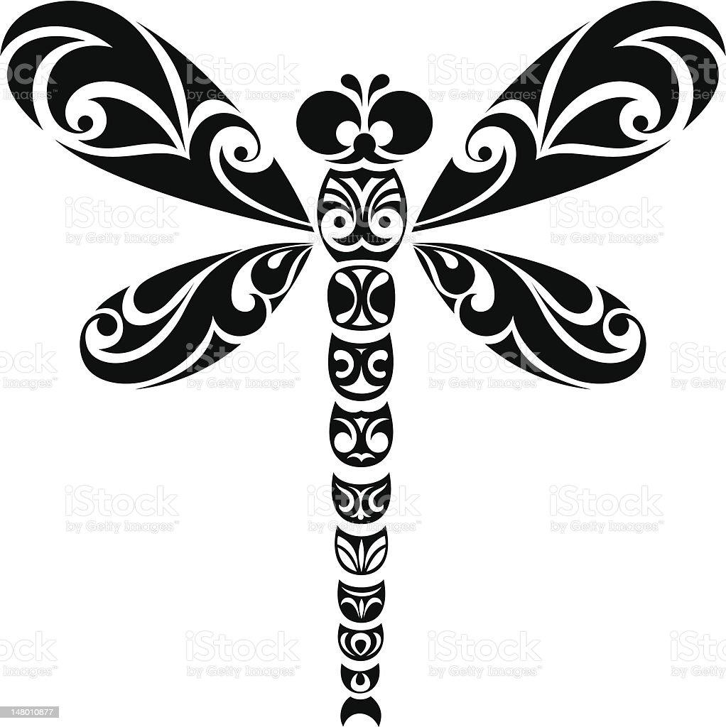 Dragonfly vector art illustration