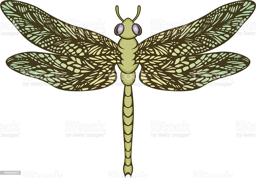 Dragonfly royalty-free stock vector art