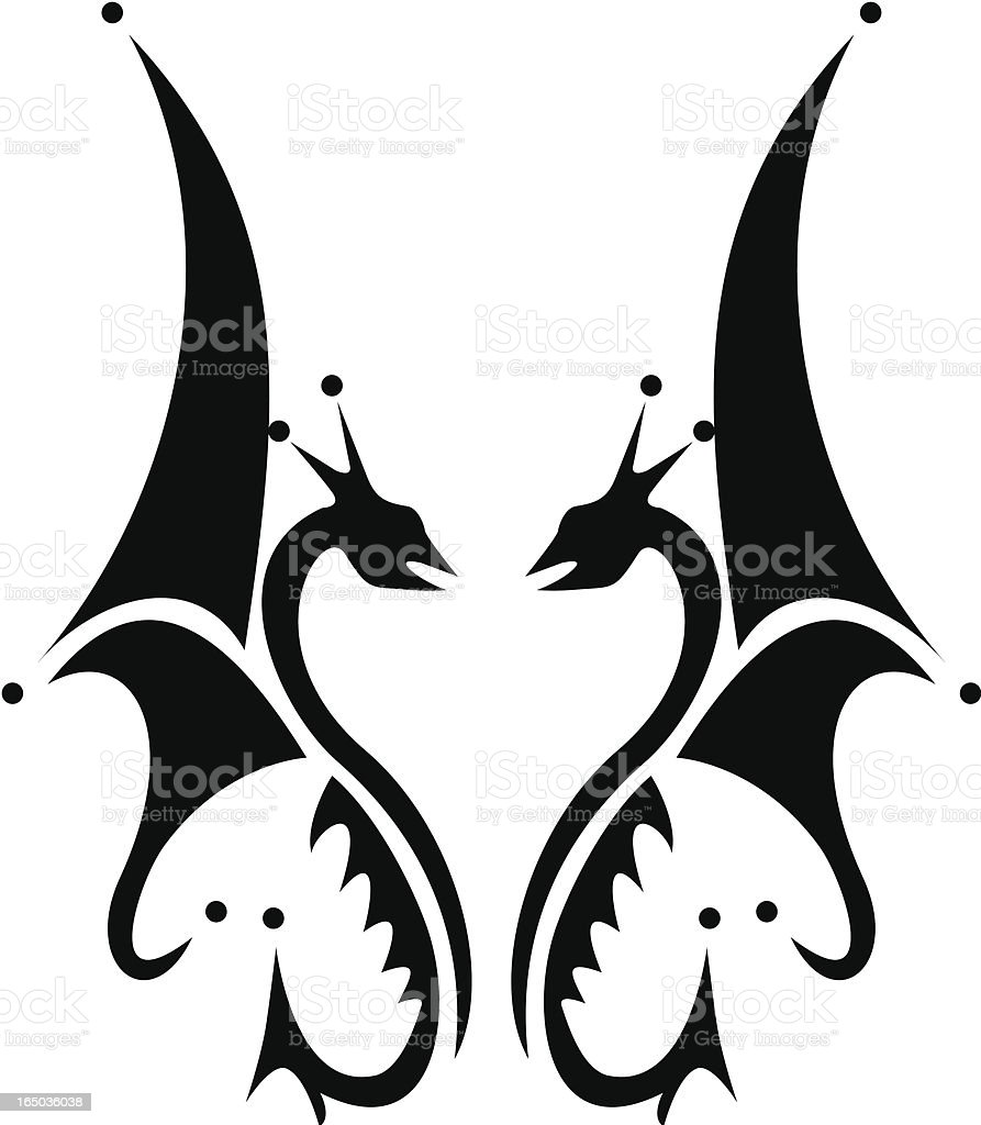 Dragons royalty-free stock vector art