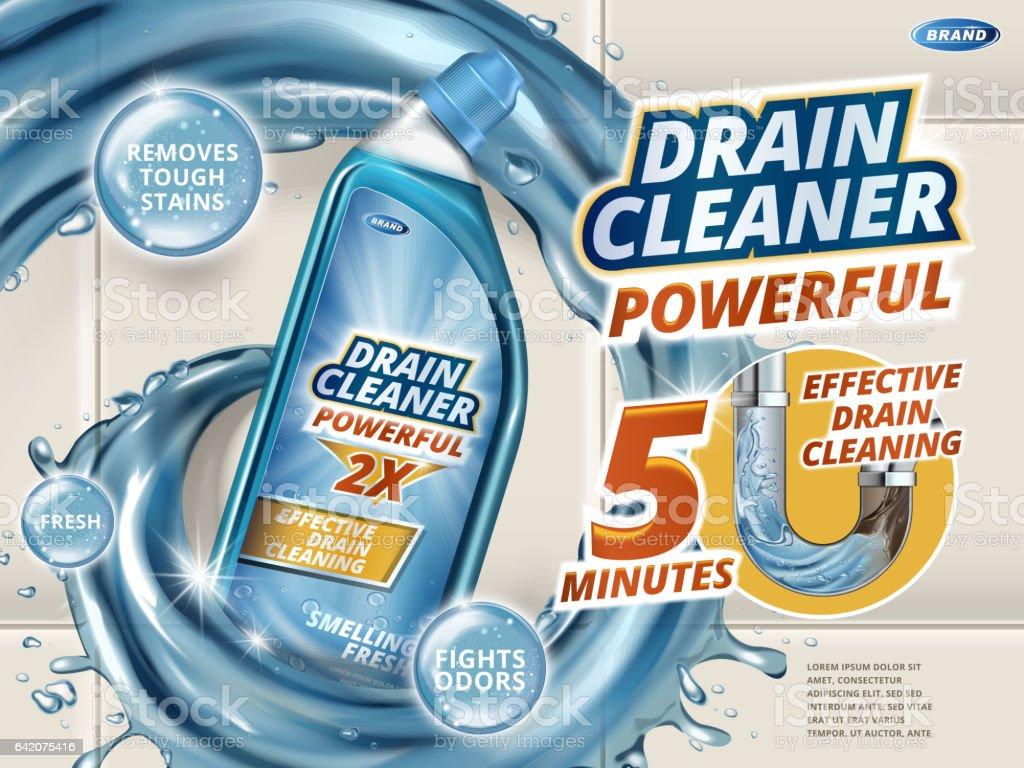 drain cleaner ads stock vector art 642075416 istock 1 credit