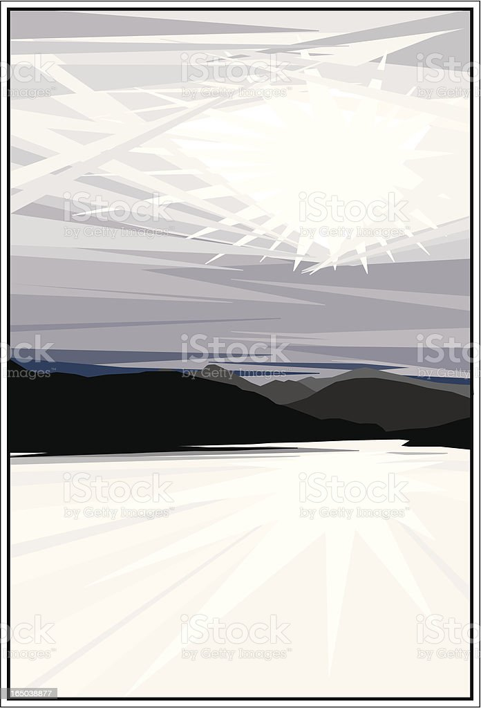 Dramatic Landscape royalty-free stock vector art