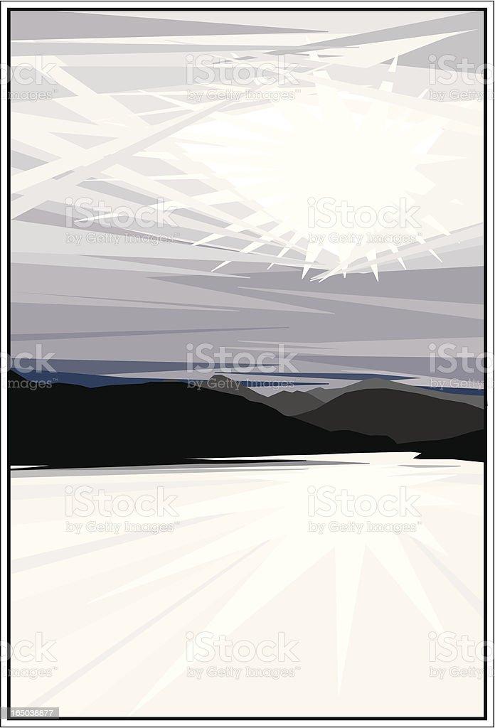 Dramatic Landscape vector art illustration