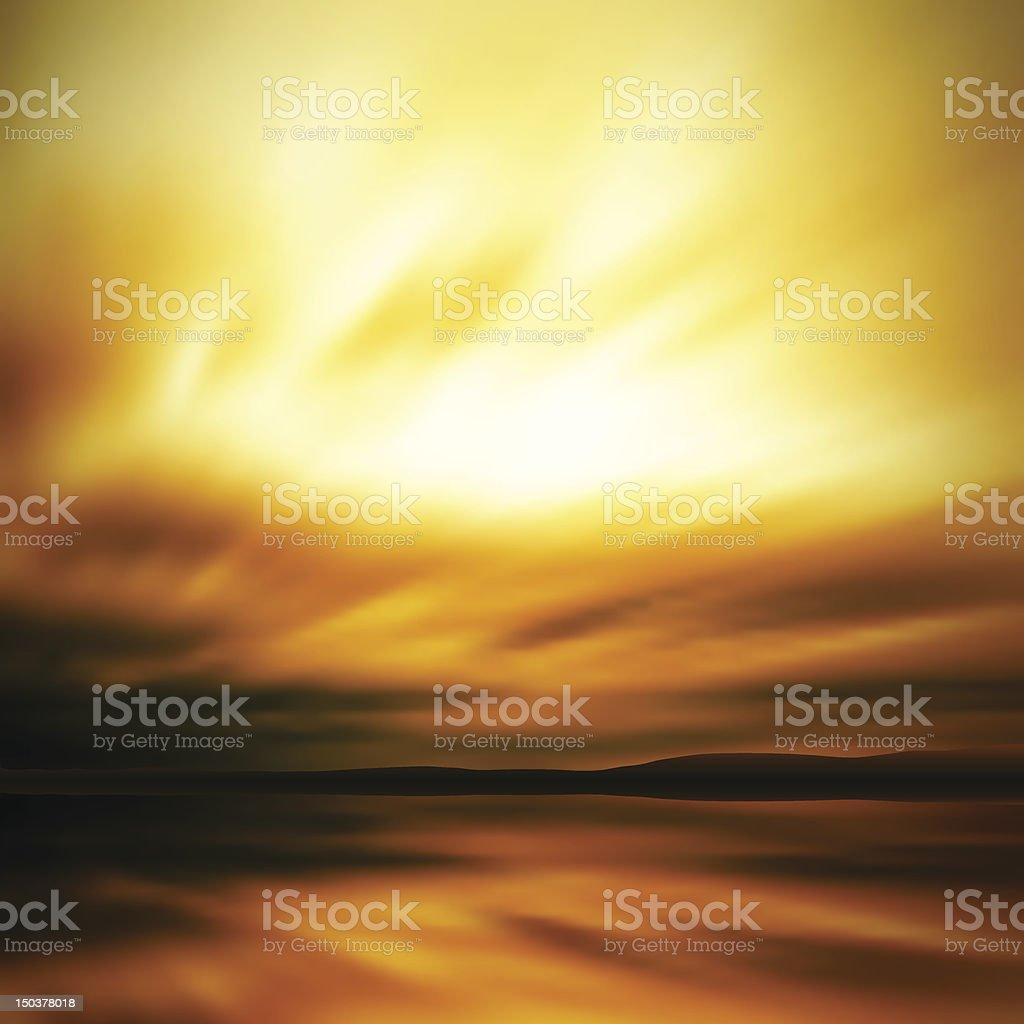 Dramatic sky blur vector art illustration