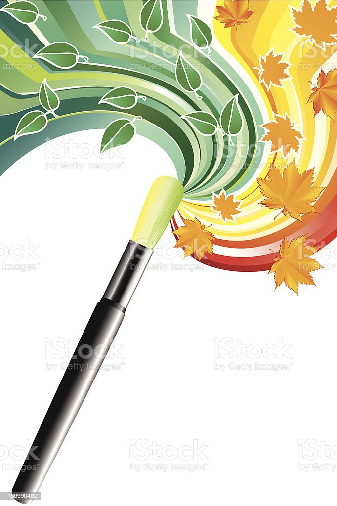 Drawing a brush. royalty-free stock vector art