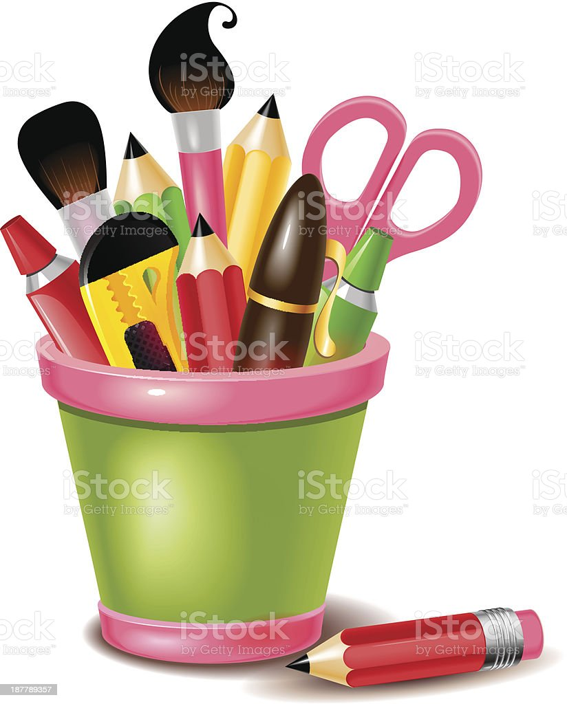 Drawing and painting tools royalty-free stock vector art