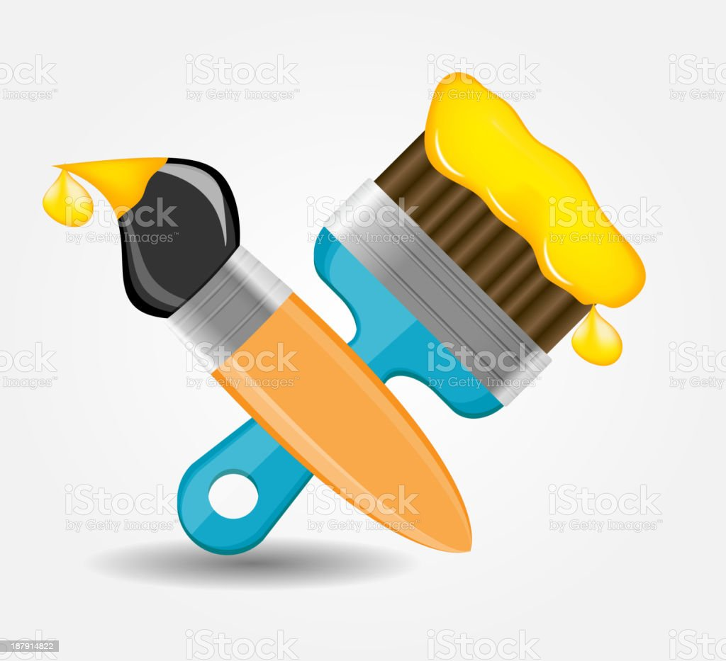 Drawing and Writing tools icon vector illustration royalty-free stock vector art