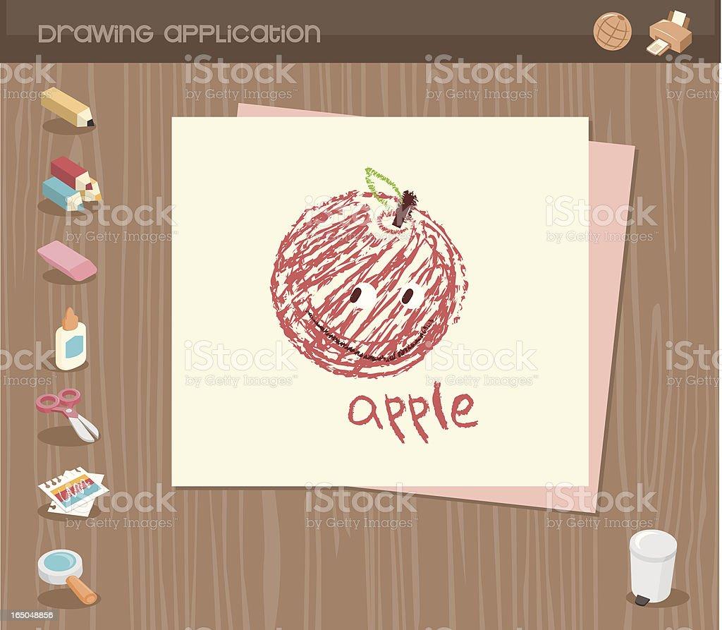 drawing application royalty-free stock vector art