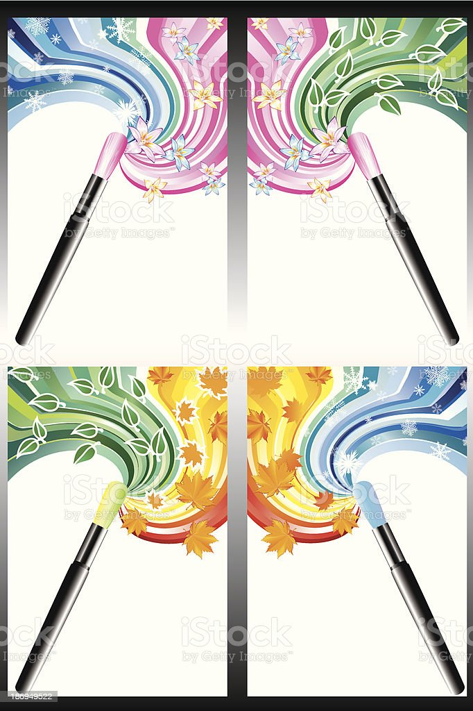 Drawing brush. royalty-free stock vector art