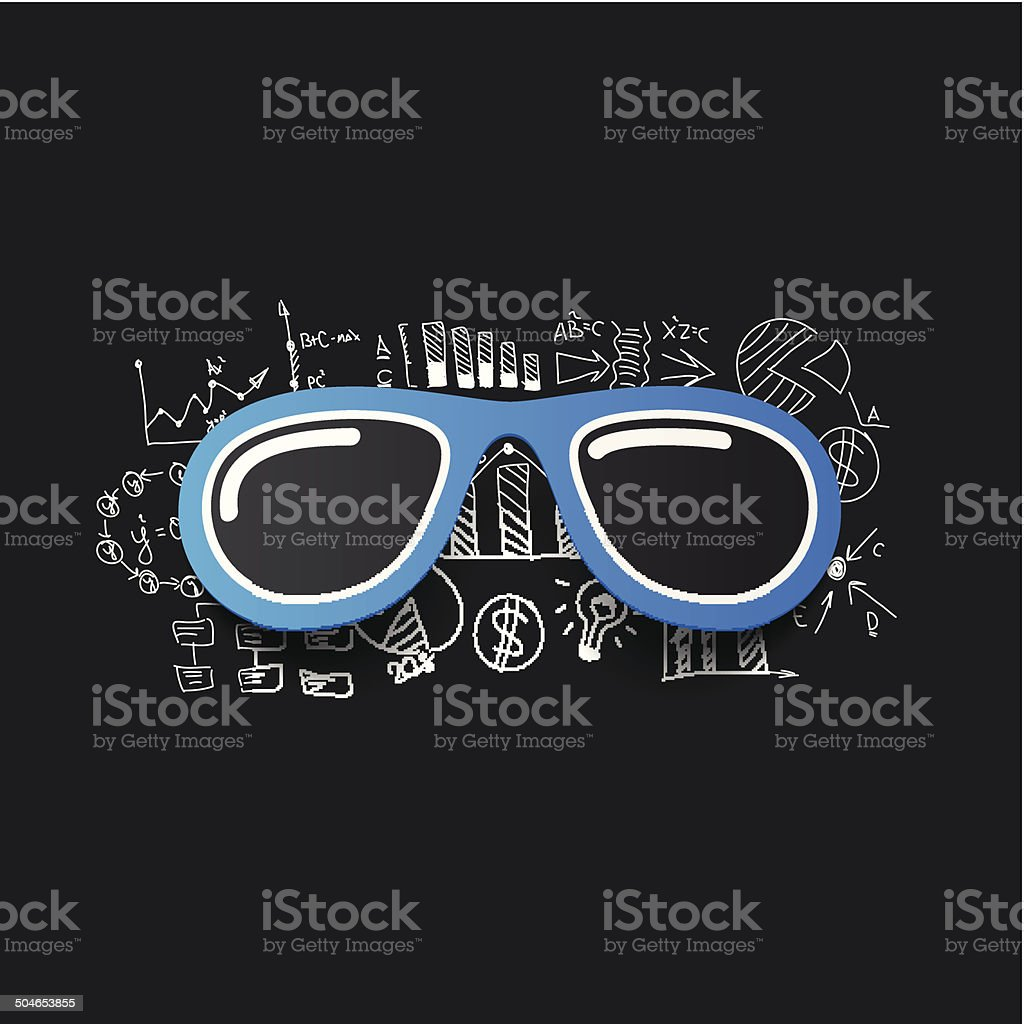Drawing business formulas: sunglasses royalty-free stock vector art