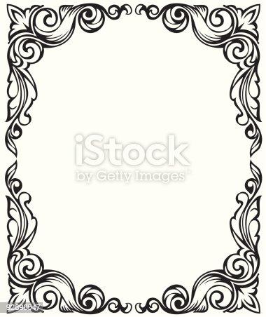 Drawing Frame Ornament stock vector art 92896547 iStock