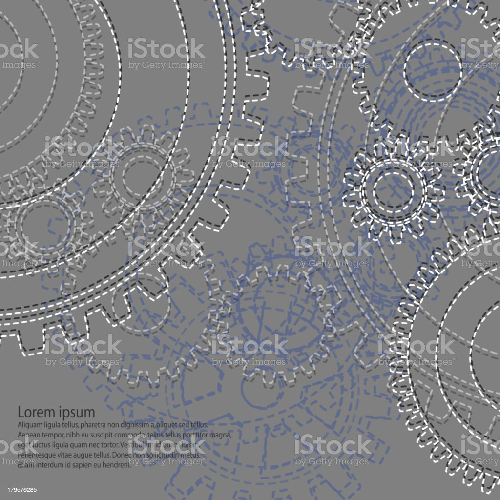 drawing gears royalty-free stock vector art