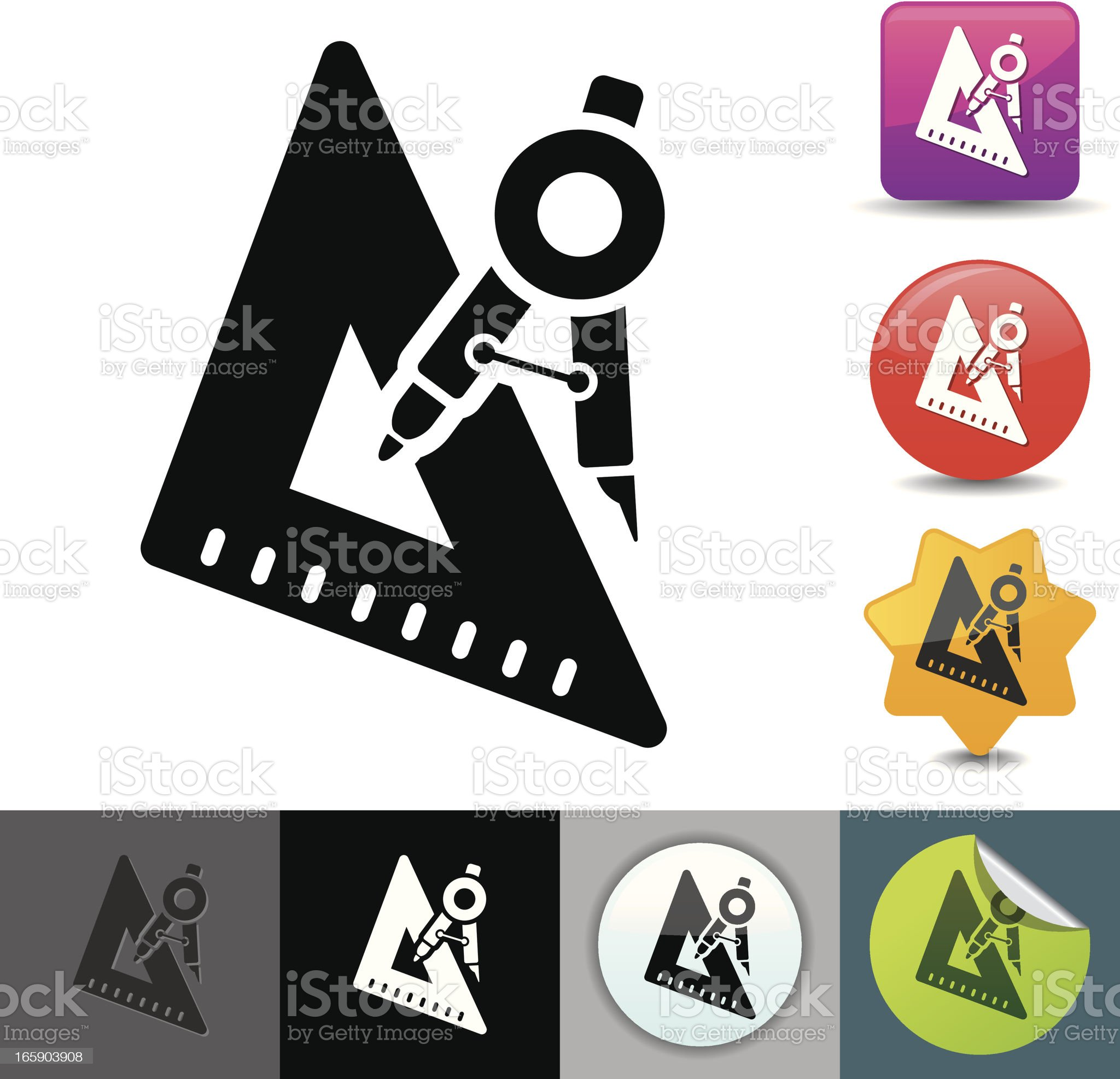 Drawing instruments icon | solicosi series royalty-free stock vector art