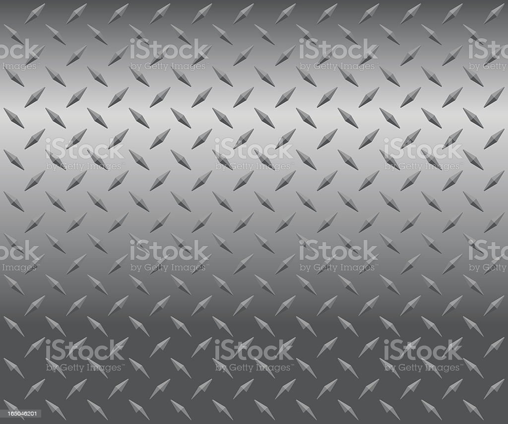 A drawing of a gray and silver plate with a diamond pattern vector art illustration