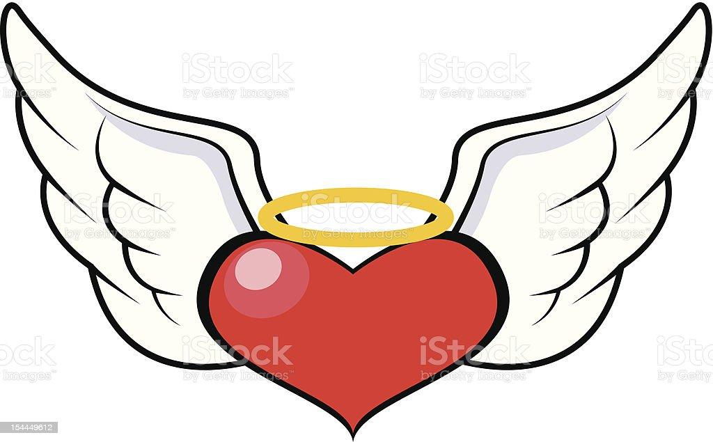 Нарисовать сердце с ангелом