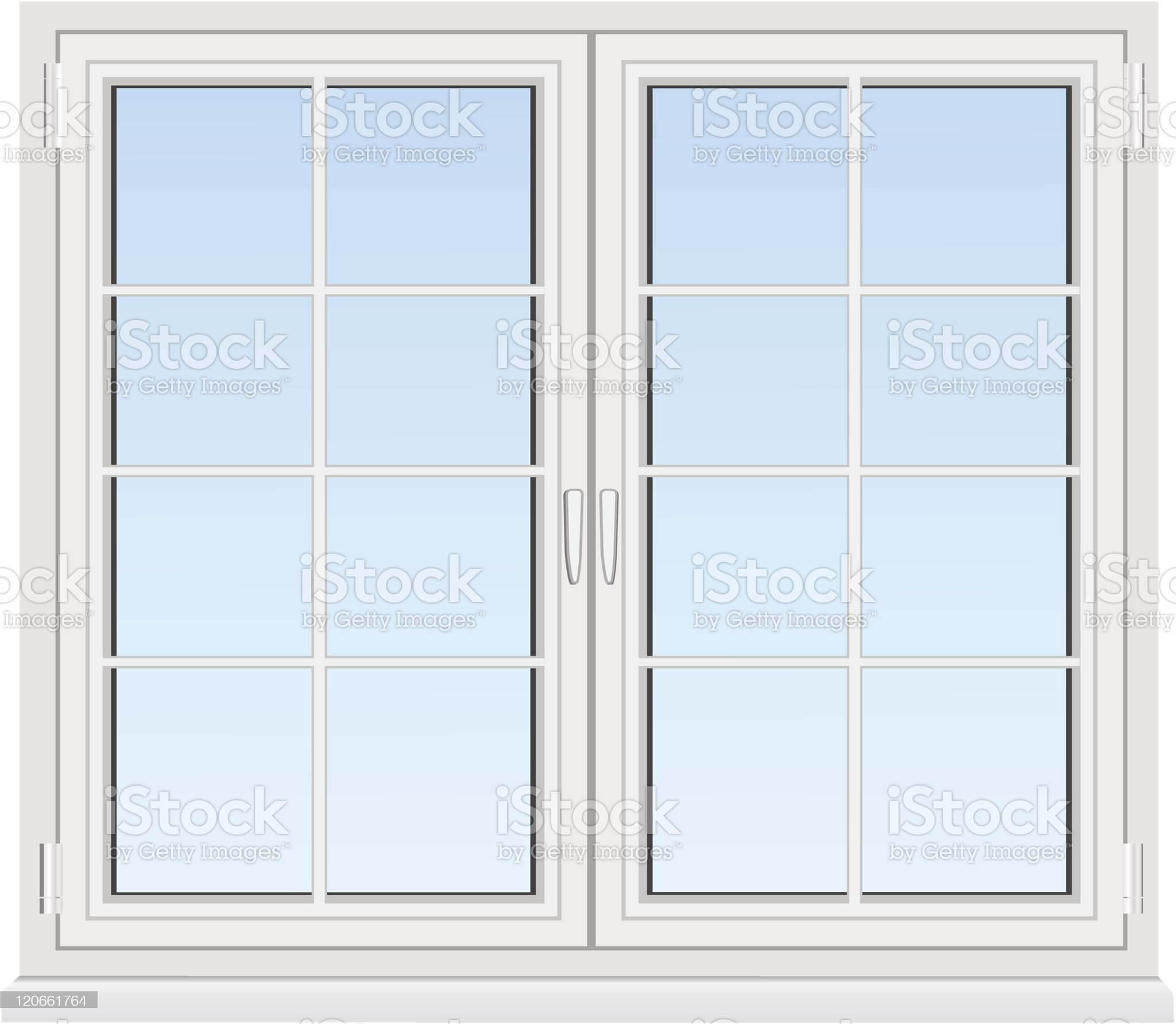 Drawing of a window and window panes royalty-free stock vector art