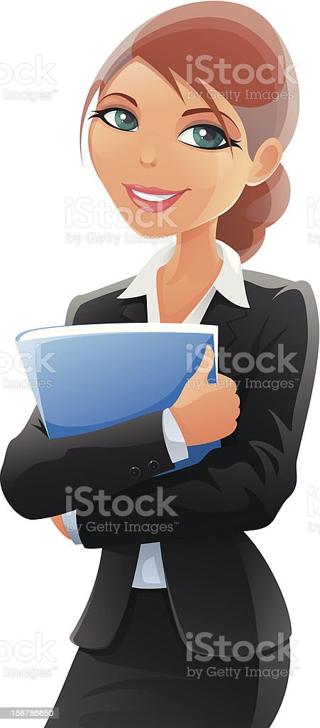Drawing of business woman vectorized royalty-free stock vector art
