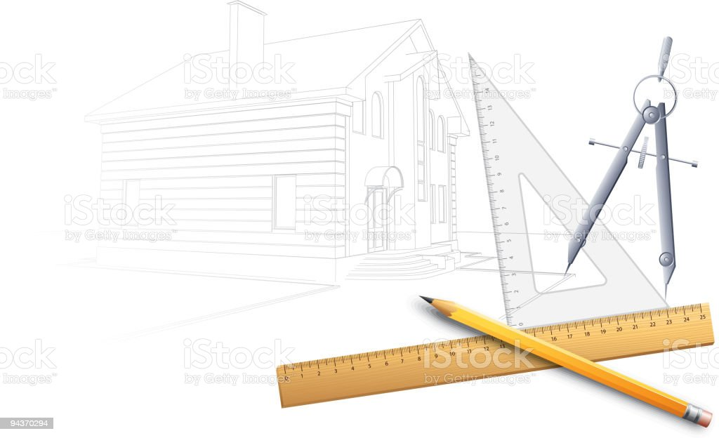 Drawing tools royalty-free stock vector art