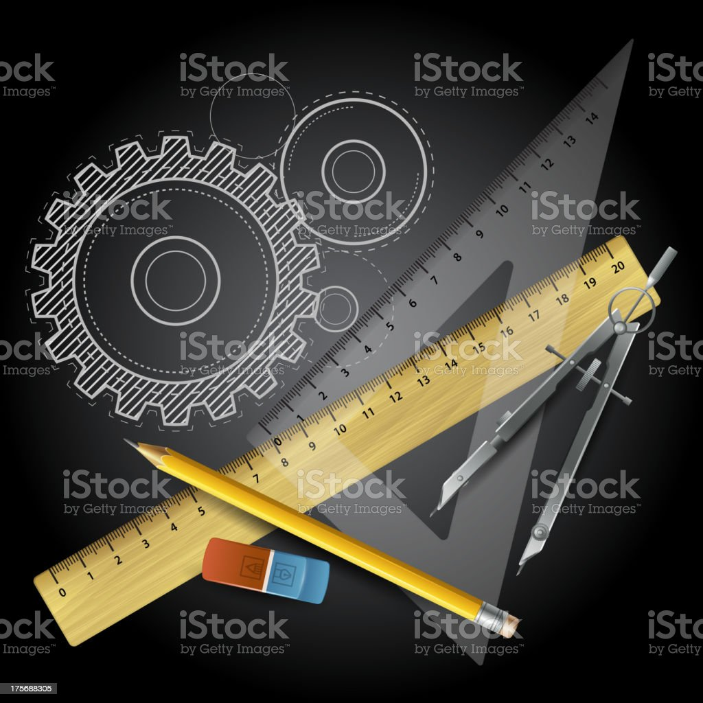 Drawing tools. Vector illustration royalty-free stock vector art