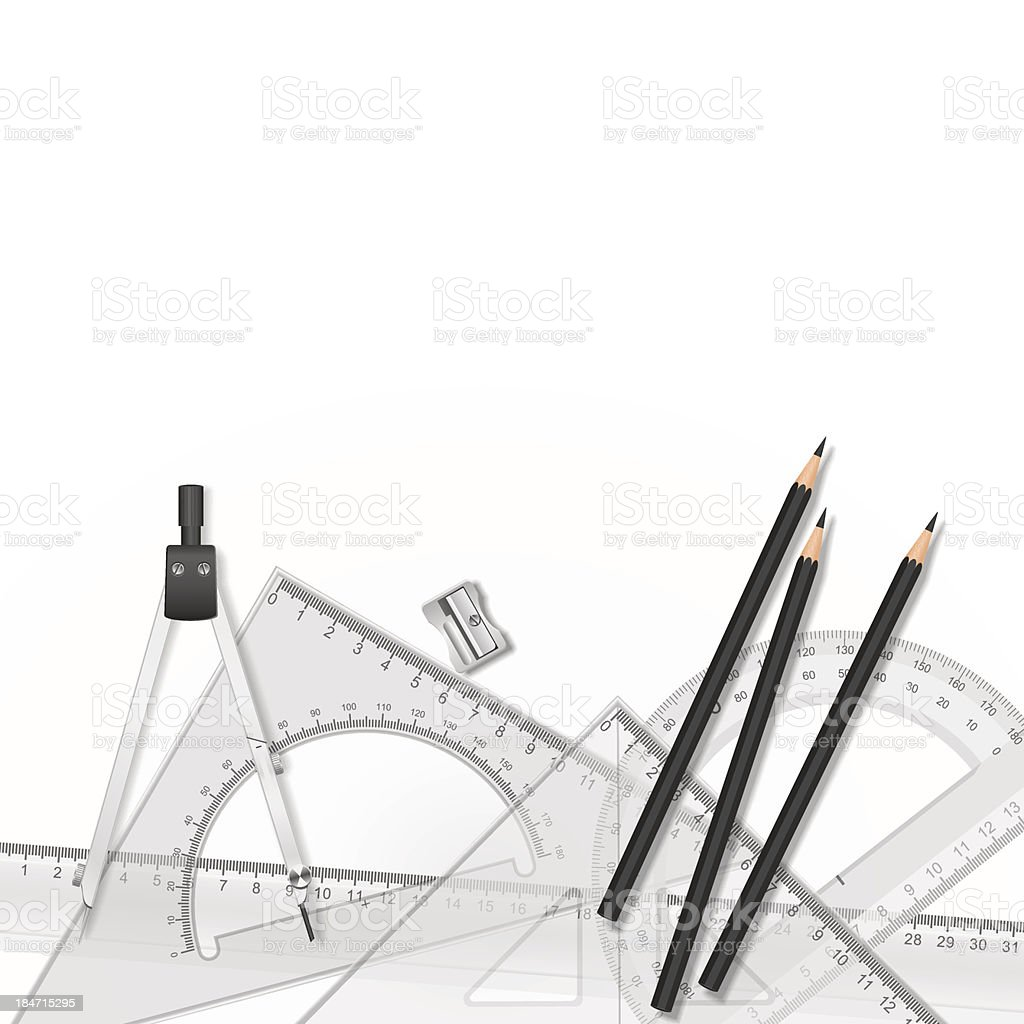 Drawing tools with royalty-free stock vector art