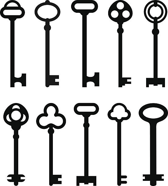 skeleton key clipart free vector - photo #46