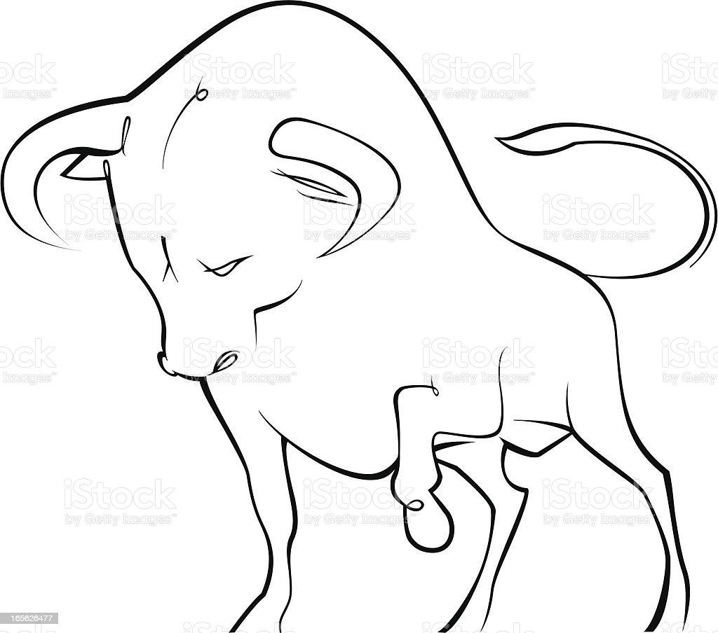 Drawn illustration of a Tauras zodiac symbol royalty-free stock vector art