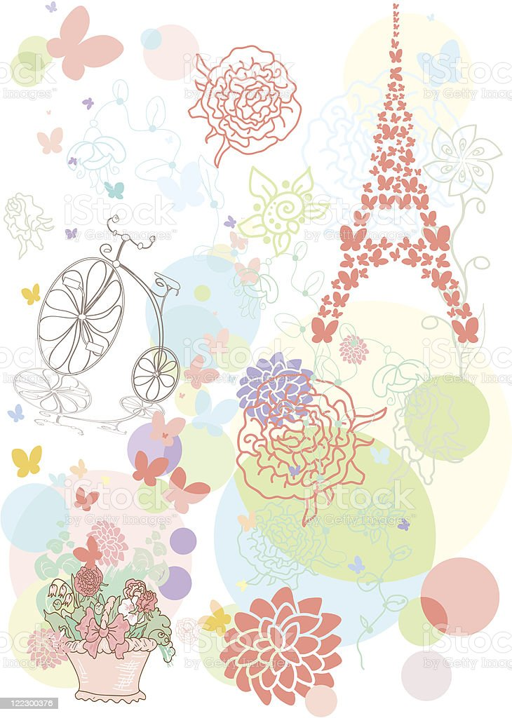 Dream about Eiffel tower royalty-free stock vector art