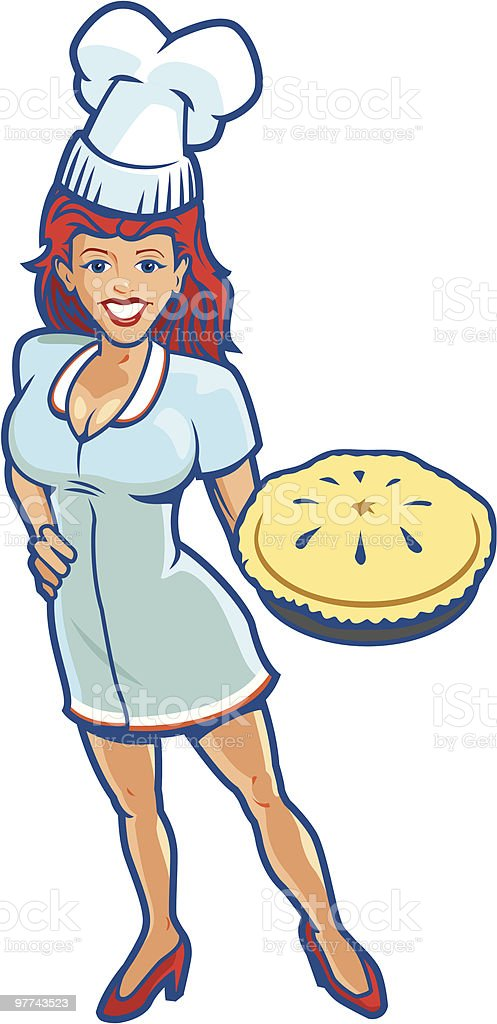 Dream Bakery Woman royalty-free stock vector art