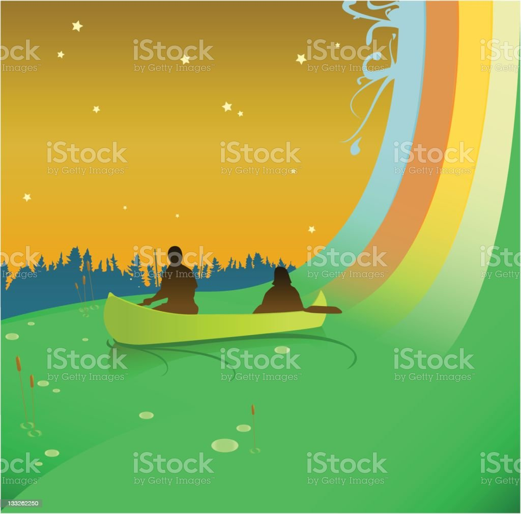 Dream Canoe [vector] royalty-free stock vector art