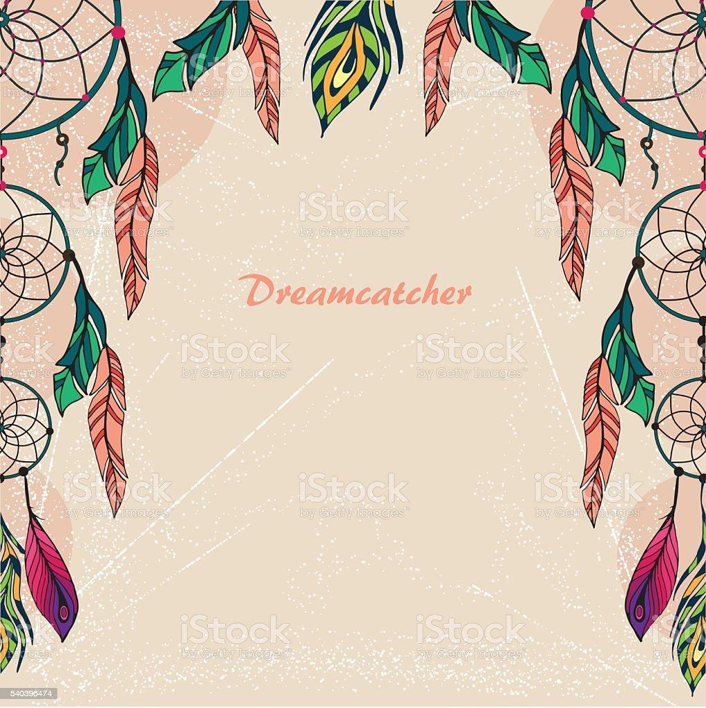 Color art dreamcatcher - Dream Catcher Color 1 Royalty Free Stock Vector Art