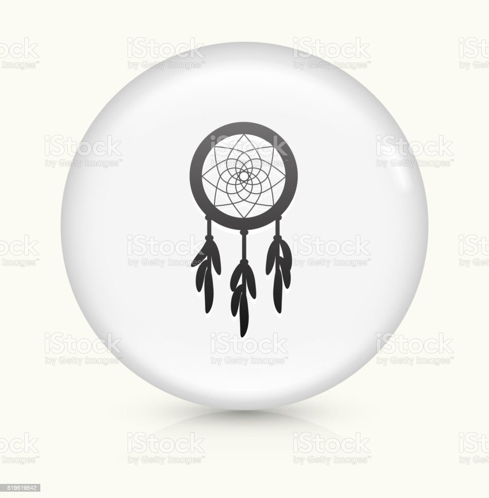 Dream Catcher icon on white round vector button vector art illustration