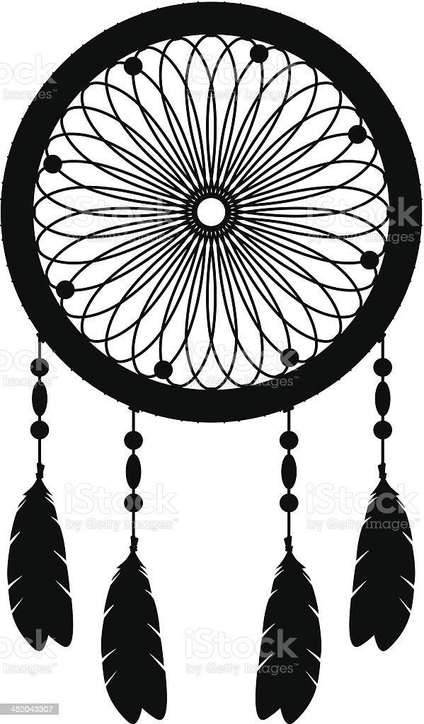 Dream Catcher Silhouette vector art illustration